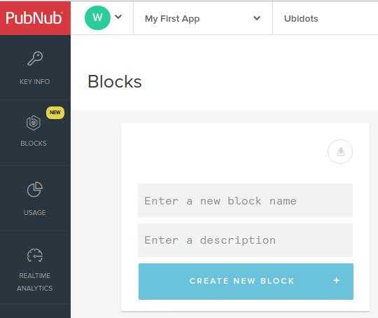 Create a new BLOCK