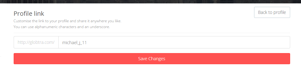 image - How to configure a custom link to your profile?