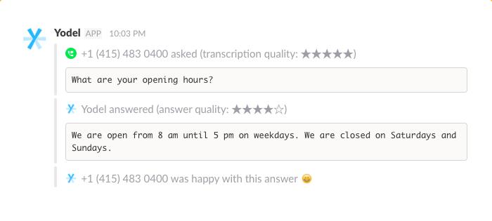 Call Transcription in Slack