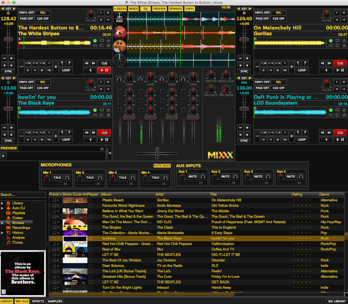 Mixxx media and playout software.