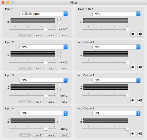 LadioCast inputs.