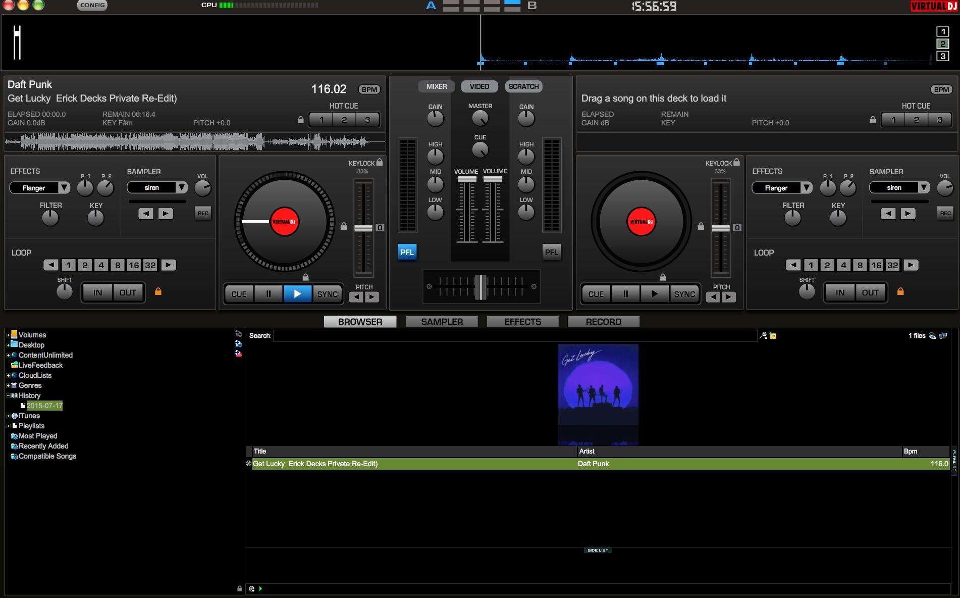 Virtual DJ Pro 7 dashboard.