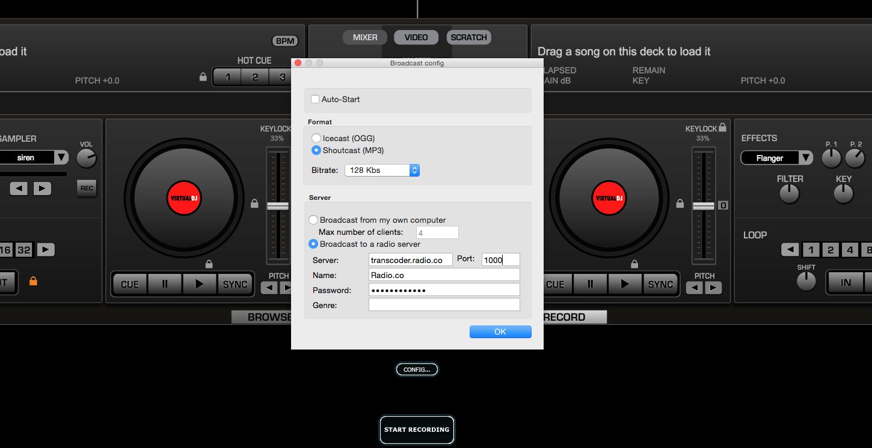 Adding broadcast details into Virtual DJ 7.